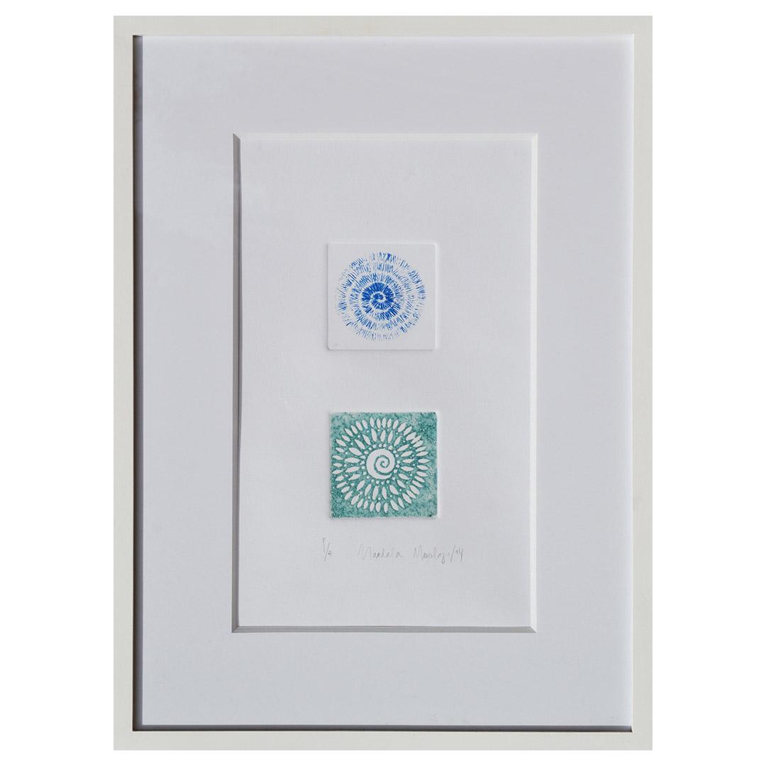 Dos Mandalas color azul